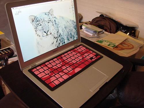 MacBook Air に iSkin を付けてみた。