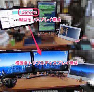 Mac mini (Late2012) でトリプルモニター化、縦型ディスプレイの利用